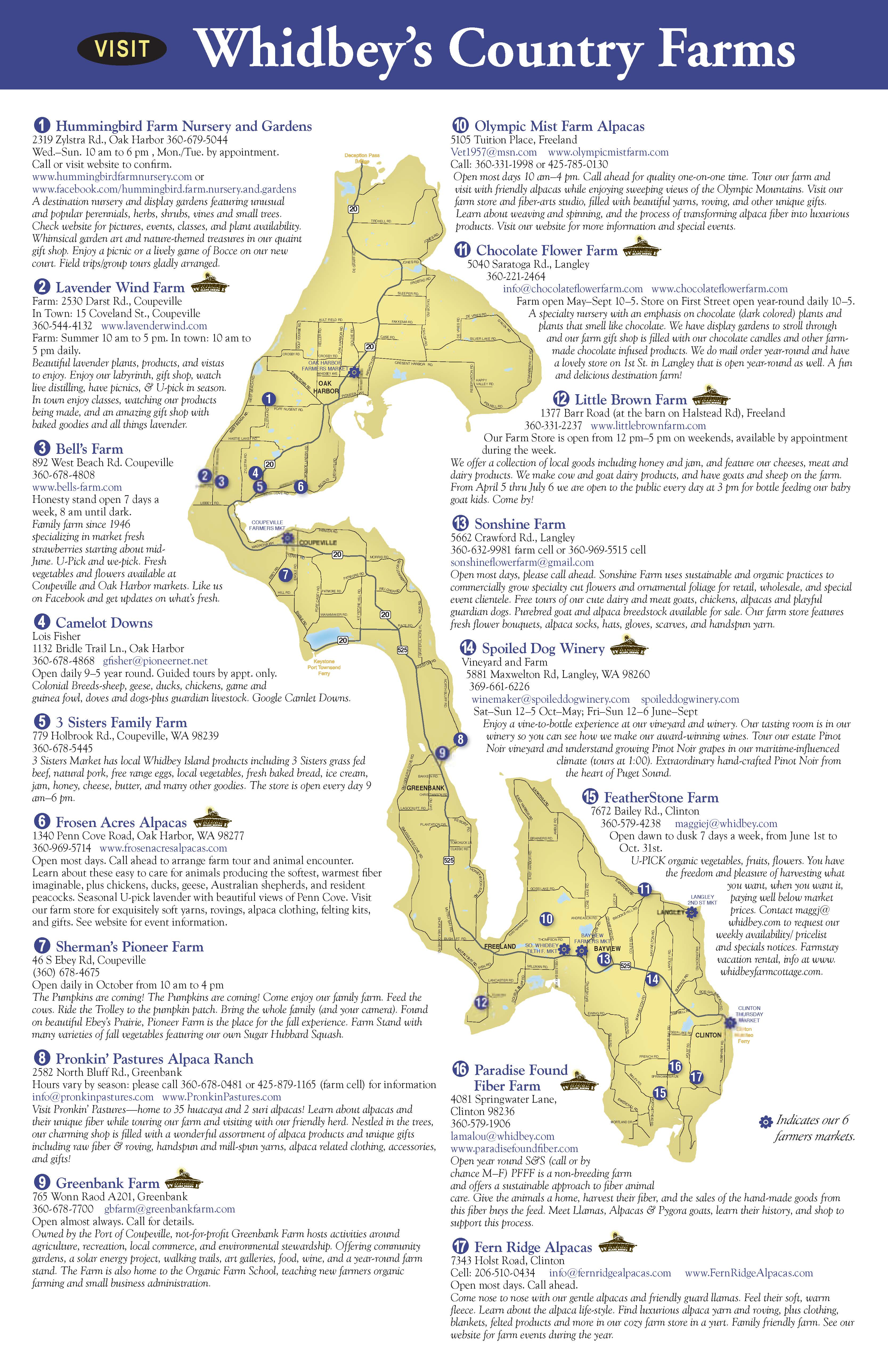 click here to download a pdf of last year's farm map publication. northwest agriculture business center  whidbey island farm map